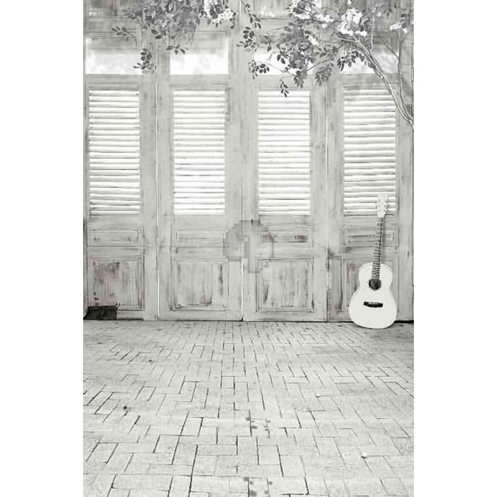 GladsBuy White Room 10 x 10 Computer Printed Photography Backdrop Indoor Theme Background ZJZ-597